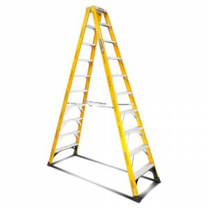 Gorilla FSM010-I 10-Step 3m 150kg Fibreglass Industrial Double Sided Step Ladder