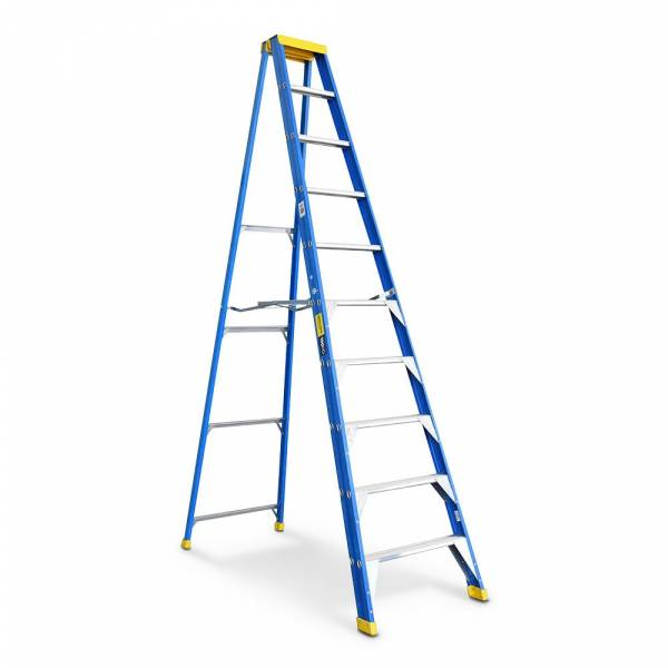 Bailey Professional Punchlock Fibreglass Single Sided Step Ladder 10ft 3.0m