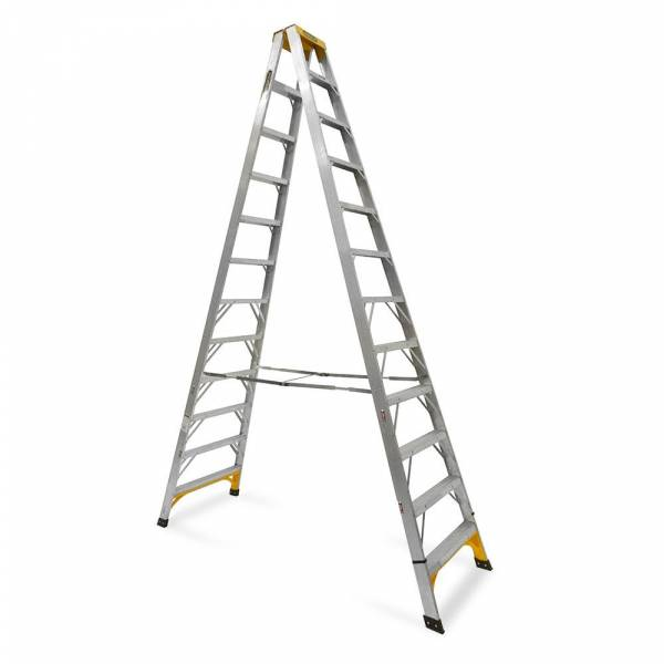 Gorilla Aluminium Double Sided Step Ladder 150 kg 12ft 3.6m