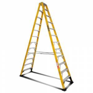 Gorilla FSM012-I 12-Step 3.6m 150kg Fibreglass Industrial Double Sided Step Ladder