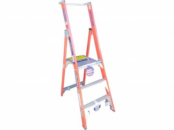 Ladamax 150KG 2 Step Fibreglass Platform Ladder (G) - Was $345 Now $310