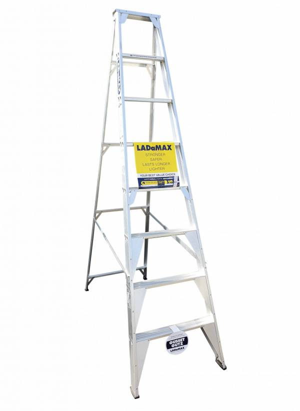 Ladamax Aluminium 150 kg Single Sided Ladder 8 Ft (2.4m) - Was $255 Now $205 | Ladamax Aluminium 150 kg Single Sided Ladder 8 Ft (2.4m) - Was $255 Now $205 | Ladamax Aluminium 150 kg Single Sided Ladder 8 Ft (2.4m) - Was $255 Now $205