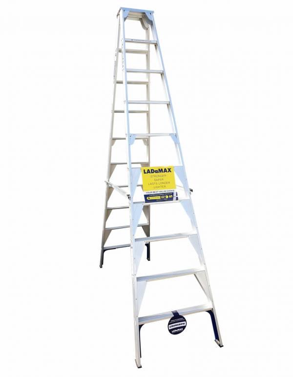 Ladamax Aluminium 150kg Double Sided Ladder - 10Ft (3m) | Ladamax Aluminium 150kg Double Sided Ladder - 10Ft (3m) | Ladamax Aluminium 150kg Double Sided Ladder - 10Ft (3m)