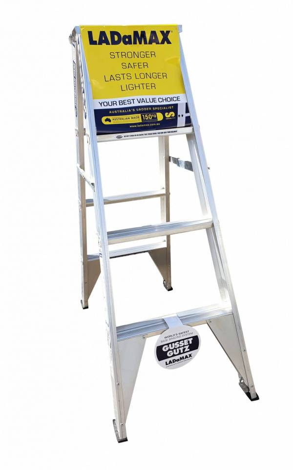 Ladamax Aluminium 150kg Double Sided Ladder - 4Ft - Was $179 Now $143 | Ladamax Aluminium 150kg Double Sided Ladder - 4Ft - Was $179 Now $143 | Ladamax Aluminium 150kg Double Sided Ladder - 4Ft - Was $179 Now $143