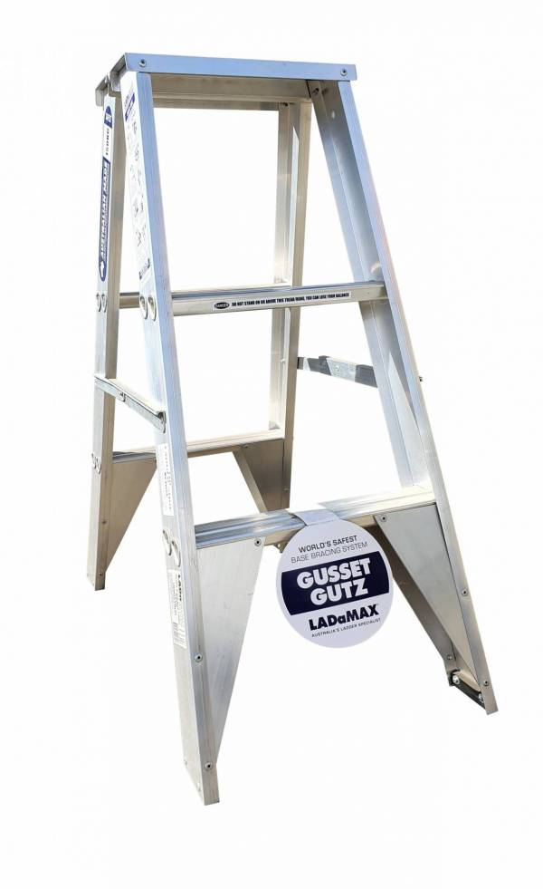 Ladamax Aluminium 150kg Double Sided Ladder - 3Ft - Was $145 Now $115 | Ladamax Aluminium 150kg Double Sided Ladder - 3Ft - Was $145 Now $115 | Ladamax Aluminium 150kg Double Sided Ladder - 3Ft - Was $145 Now $115