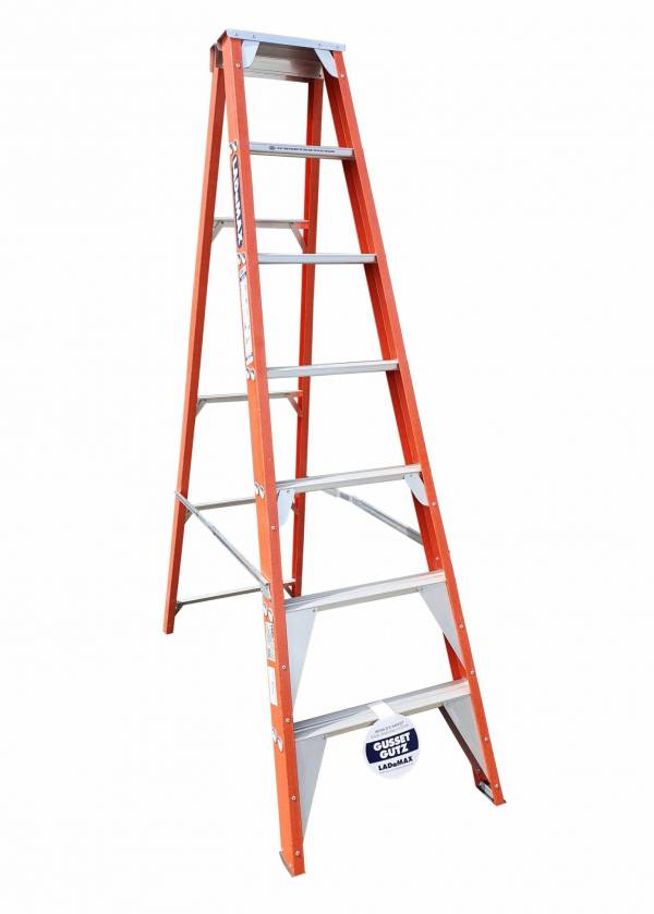 "Ladamax Fibreglass 150kg Single Sided Ladder - 7"" (2.1m) 