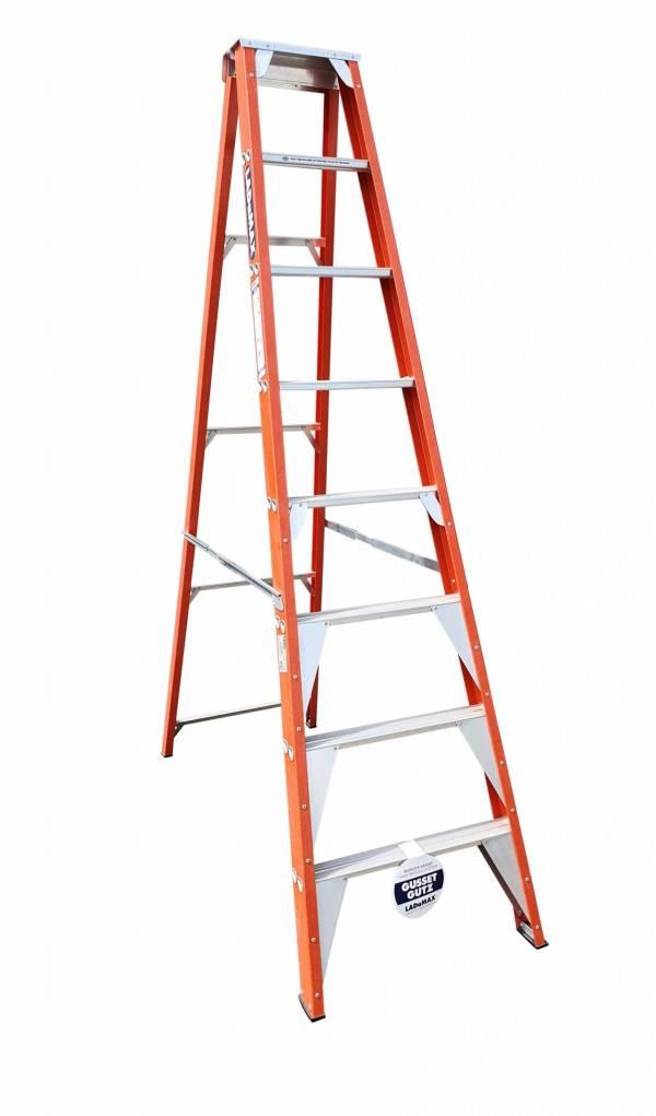 "Ladamax Fibreglass 150kg Single Sided Ladder - 8"" (2.4m) | Ladamax Fibreglass 150kg Single Sided Ladder - 8"" (2.4m) | Ladamax Fibreglass 150kg Single Sided Ladder - 8"" (2.4m)"