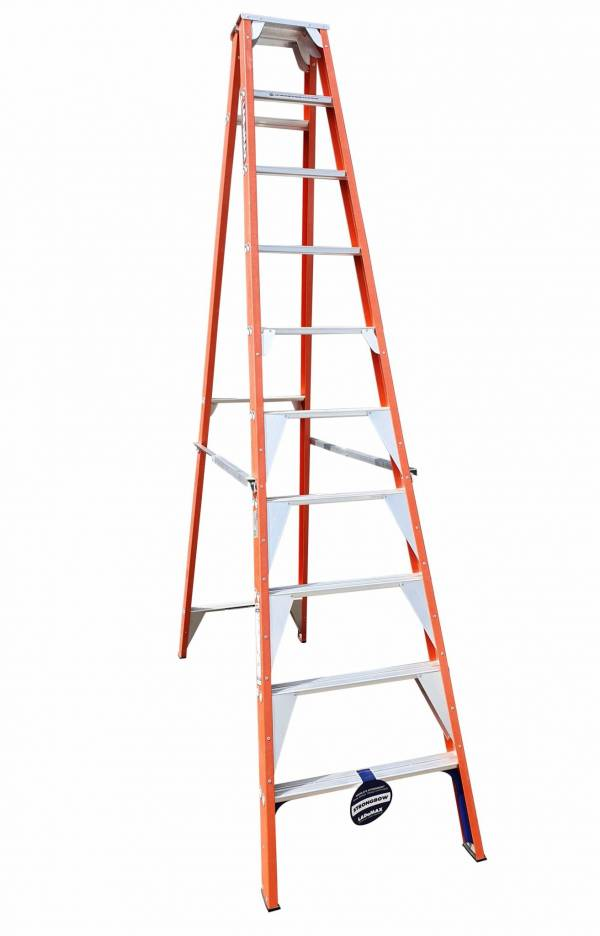 "Ladamax Fibreglass 150kg Single Sided Ladder - 10"" (3.0m) 