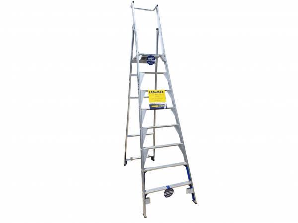 Ladamax Aluminium Platform Step Ladder - 8 Step (2.4m) | Ladamax Aluminium Platform Step Ladder - 8 Step (2.4m) | Ladamax Aluminium Platform Step Ladder - 8 Step (2.4m) | Ladamax Aluminium Platform Step Ladder - 8 Step (2.4m)