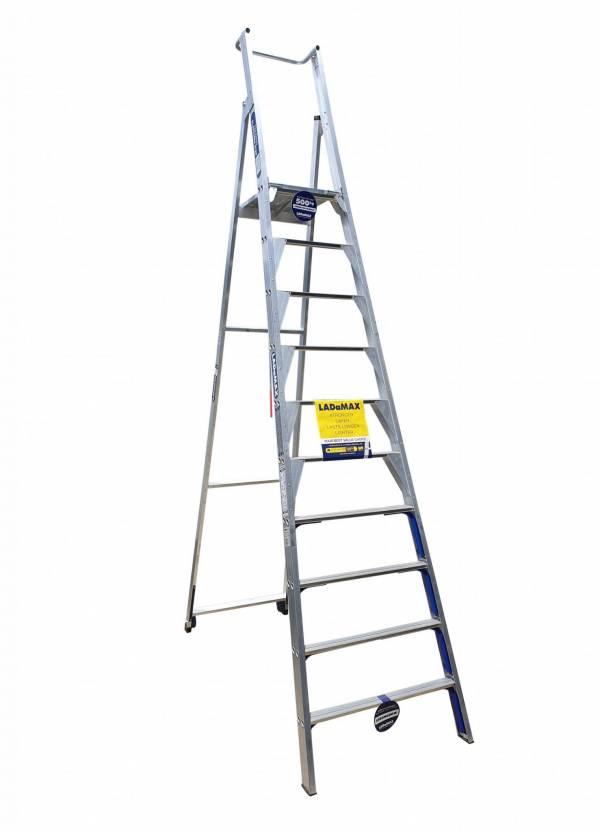Ladamax Aluminium Platform Step Ladder - 12 Step (3.6m)