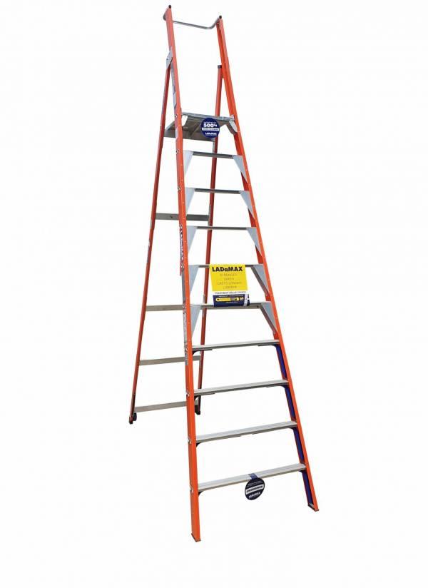 "Ladamax 150 KG Fibreglass Platform Ladder - 10"" (3.0) | Ladamax 150 KG Fibreglass Platform Ladder - 10"" (3.0) | Ladamax 150 KG Fibreglass Platform Ladder - 10"" (3.0)"