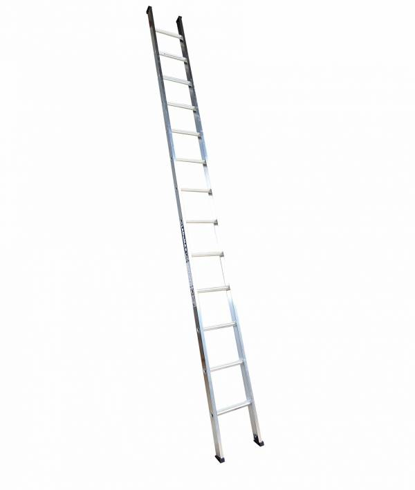 "Ladamax Aluminium 150kg Single Ladder - 18"" (5.4m) Was $295 Now $236"