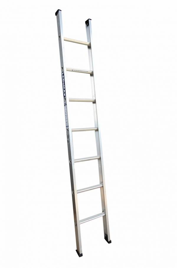 Strongest and lightest single ladder in the industry | Swagelock style is much stronger in twist than riveted ladder | large flat top 'D' Rung Standard across the range, Larger PVC feet