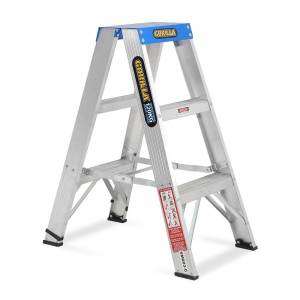 Gorilla Aluminium Double Sided Step Ladder 120 kg 3ft 0.9m