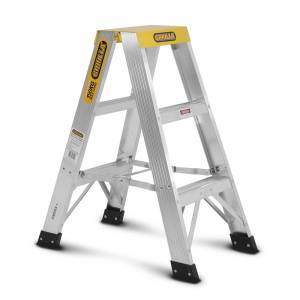 Gorilla Aluminium Double Sided Step Ladder 150 kg 3ft 0.9m