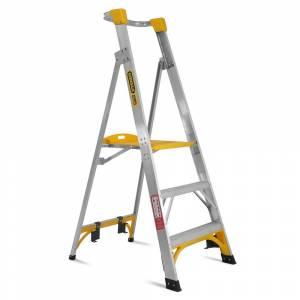 Gorilla PL003-I 3-Step 0.9m 150kg Aluminium Industrial Platform Ladder