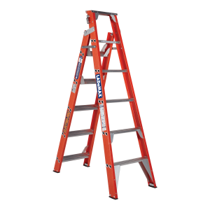"Ladamax Fibreglass Dual Purpose Step Extension Ladder 7"" -12"" (2.1m - 3.6m) 