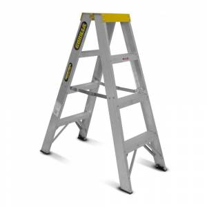 Gorilla Aluminium Double Sided Step Ladder 150 kg 4ft 1.2m