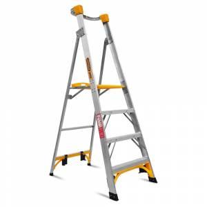 Gorilla PL004-I 4-Step 1.2m 150kg Aluminium Industrial Platform Ladder
