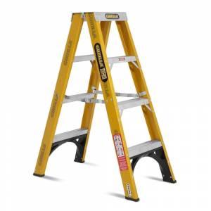 Gorilla FSM004-I 4-Step 1.2m 150kg Fibreglass Double Sided Industrial Ladder