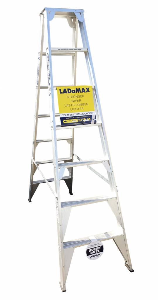 Ladamax Aluminium 150kg Double Sided Ladder - 8Ft (2.4m) | Ladamax Aluminium 150kg Double Sided Ladder - 8Ft (2.4m) | Ladamax Aluminium 150kg Double Sided Ladder - 8Ft (2.4m)