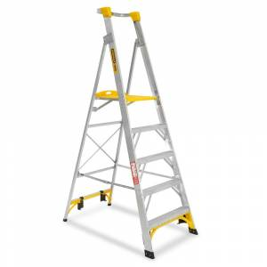 Gorilla 1.5m 150kg Aluminium Platform Ladder - 5 Step