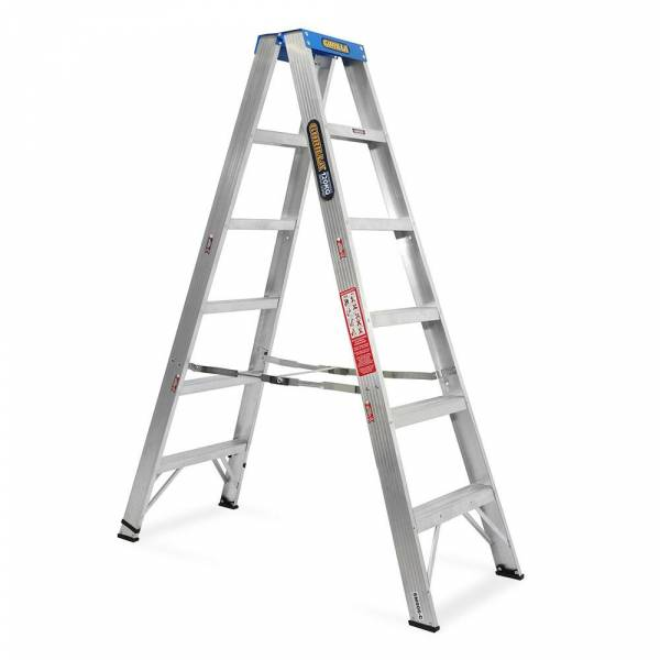 Gorilla Aluminium Double Sided Step Ladder 120 kg 6ft 1.8m