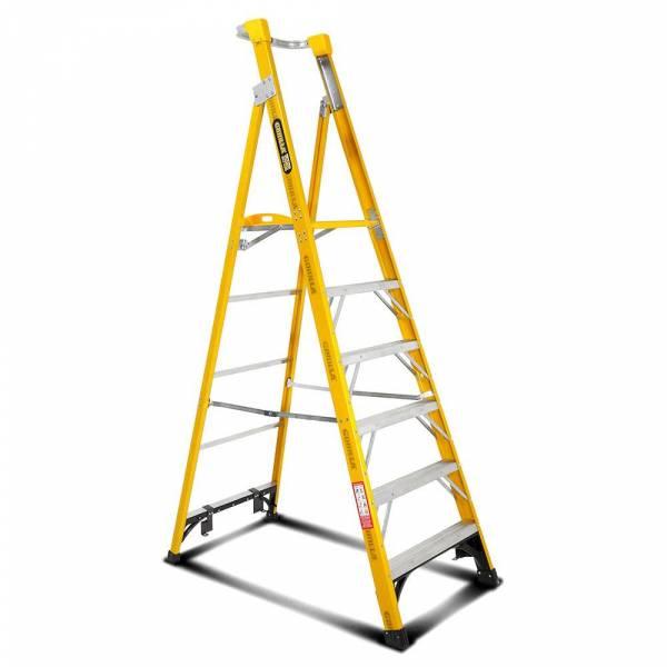 Gorilla FPL006-I 6-Step 1.8m 150kg Fibreglass Industrial Platform Ladder