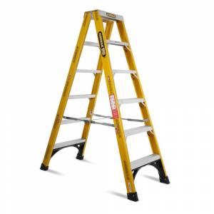 Gorilla FSM006-I 6-Step 1.8m 150kg Fibreglass Double Sided Industrial Ladder