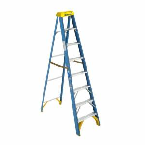 Werner Fibreglass 150kg Industrial Single Sided Ladder 8' (2.4m)