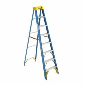 Werner Fibreglass 150kg Industrial Single Sided Ladder 10' (3.0m)