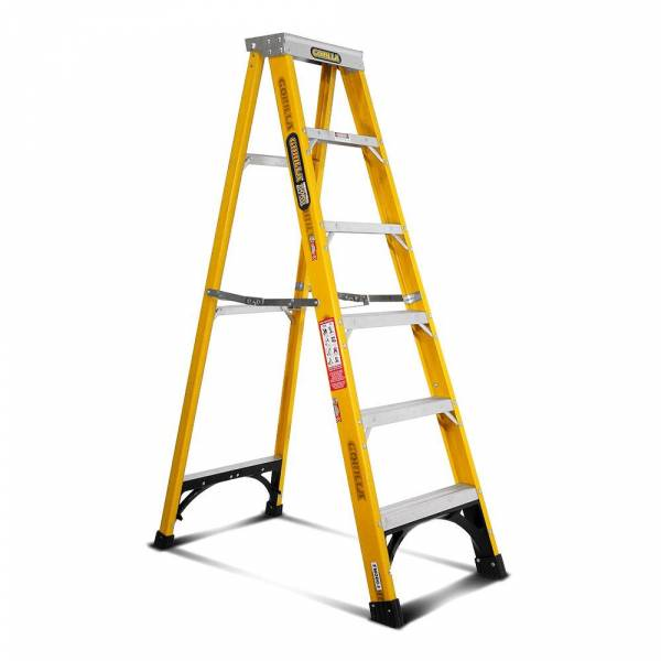 Gorilla Fibreglass Single Sided Step Ladder 150 kg 6ft 1.8m