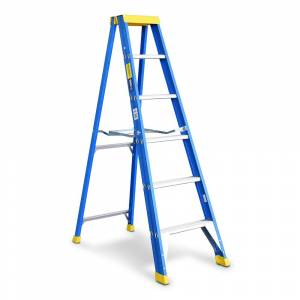 Bailey Professional Punchlock Fibreglass Single Sided Step Ladder 6ft 1.8m