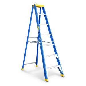 Bailey Professional Punchlock Fibreglass Single Sided Step Ladder 7ft 2.1m