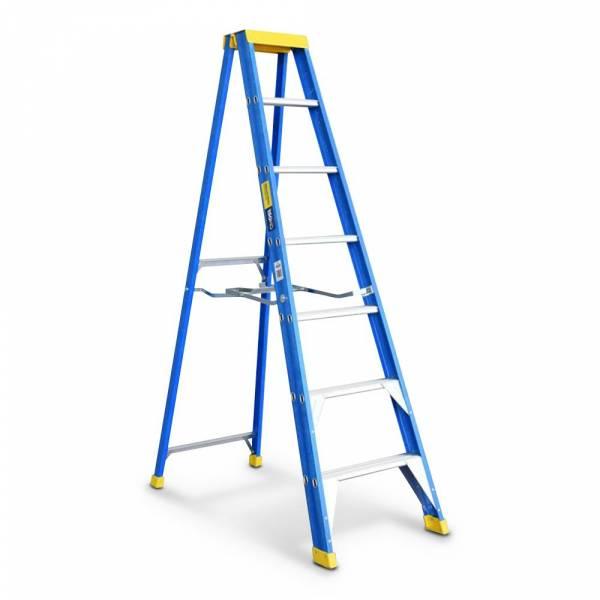 Bailey Professional Punchlock Fibreglass Single Sided Step Ladder 7ft 2.1m