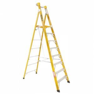 "Gorilla 2.4m 150kg Industrial Fibreglass Platform Ladder - 8"""