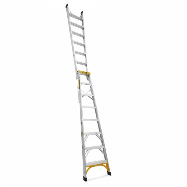 Gorilla Aluminium Dual Purpose Ladder 150 kg 8ft 2.4m - 4.5m | Gorilla Aluminium Dual Purpose Ladder 150 kg 8ft 2.4m - 4.5m