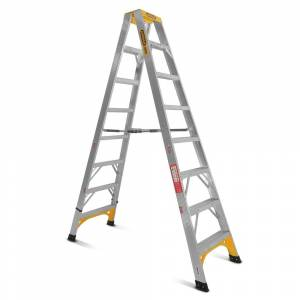 Gorilla Aluminium Double Sided Step Ladder 150 kg 8ft 2.4m