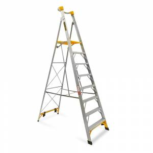 Gorilla PL008-I 8-Step 150kg Aluminium Platform Ladder