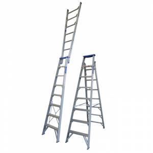 Indalex Pro Series Aluminium Dual Purpose Ladder 8ft 2.4m - 4.4m | Indalex Pro Series Aluminium Dual Purpose Ladder 8ft 2.4m - 4.4m | Indalex Pro Series Aluminium Dual Purpose Ladder 8ft 2.4m - 4.4m