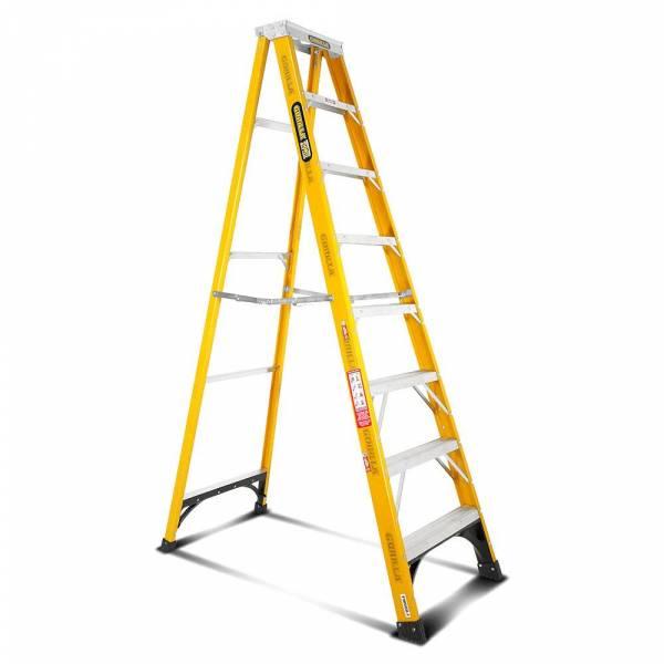 Gorilla Fibreglass Single Sided Step Ladder 150 kg 8ft 2.4m
