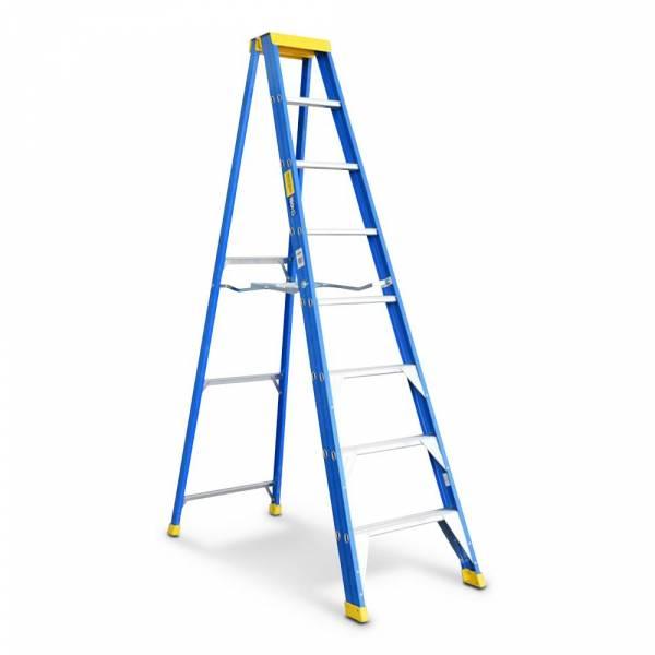 Bailey Professional Punchlock Fibreglass Single Sided Step Ladder 8ft 2.4m