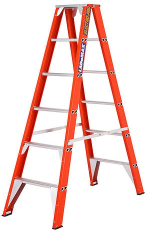 Ladamax Fibreglass 150kg Double Sided Ladder 6Ft - (1.8m) | Ladamax Fibreglass 150kg Double Sided Ladder 6Ft - (1.8m) | Ladamax Fibreglass 150kg Double Sided Ladder 6Ft - (1.8m)