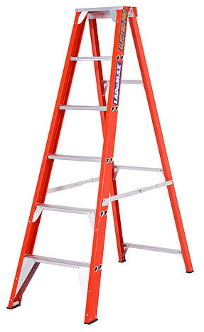 "Ladamax Fibreglass 150kg Single Sided Ladder - 6 "" (1.8m) 