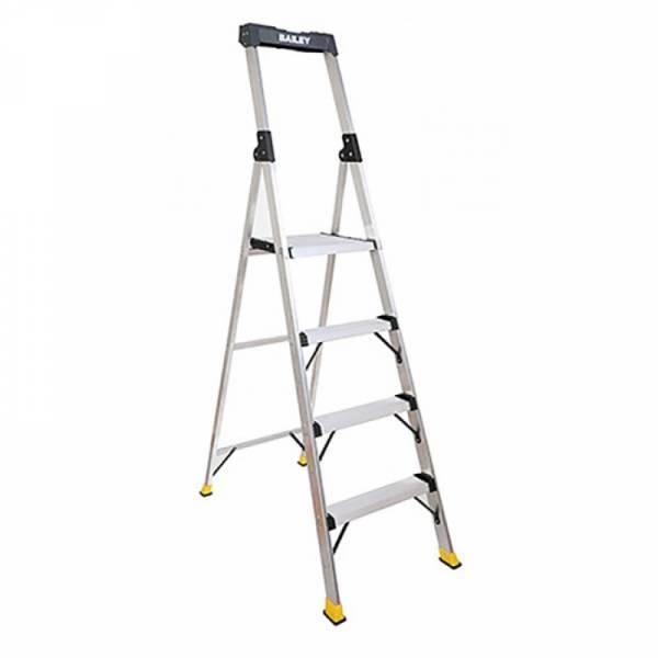 BAILEY Retail and Office Aluminium Platform Ladder 4 Steps 1.132m