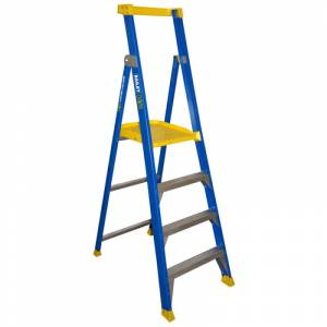 BAILEY Fibreglass P150 Platform Ladder 4 Steps 1.2m