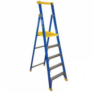 BAILEY Fibreglass P150 Platform Ladder 5 Steps 1.5m