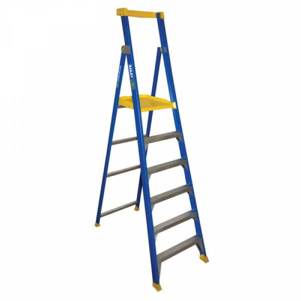 BAILEY Fibreglass P150 Platform Ladder 6 Steps 1.8m