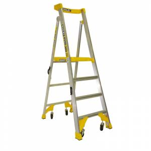 BAILEY P170 Job Station Aluminium Platform Ladder 4 Steps 1.2m | BAILEY P170 Job Station Aluminium Platform Ladder 4 Steps 1.2m