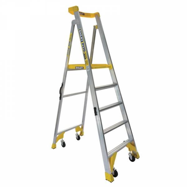BAILEY P170 Job Station Aluminium Platform Ladder 5 Steps 1.5m   BAILEY P170 Job Station Aluminium Platform Ladder 5 Steps 1.5m   BAILEY P170 Job Station Aluminium Platform Ladder 5 Steps 1.5m